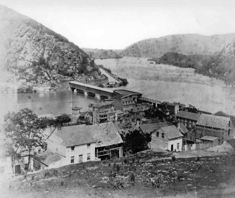 Harpers Ferry Covered Bridge 1858