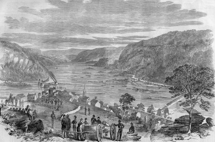 Harpers Ferry Covered Bridge 1861