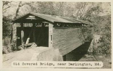 Wilson's Mill Covered Bridge Postcard, 1930s